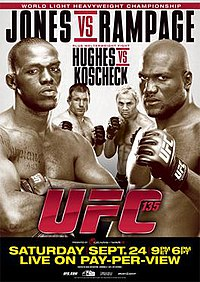 A poster or logo for UFC 135: Jones vs. Rampage.