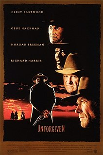 <i>Unforgiven</i> 1992 American Western film directed by Clint Eastwood