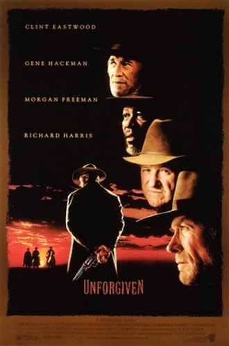 Unforgiven - Theatrical release poster by Bill Gold