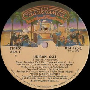 Unison (song) - Original version by Junior Giscombe