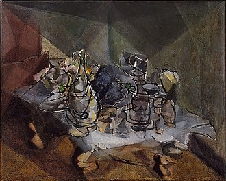 Jacques Villon - Jacques Villon, 1912, The Dining Table, oil on canvas, 65.7 × 81.3 cm, Metropolitan Museum of Art, New York