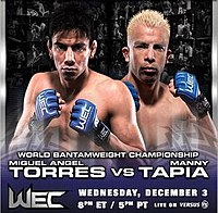 A poster or logo for WEC 37: Torres vs. Tapia.