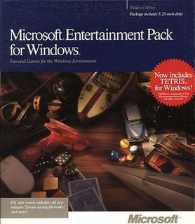 <i>Microsoft Entertainment Pack</i> set of video games