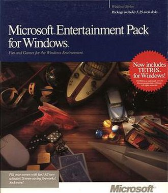 Microsoft Entertainment Pack - Cover art for Pack 1