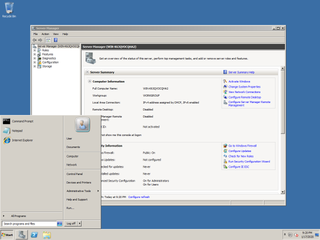 Windows Server 2008 R2 server operating system by Microsoft released in 2009