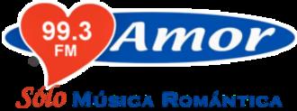 XHZAZ-FM - Logo as Amor 99.3, with the ACIR Amor format, used until 2017