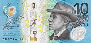 Australian ten-dollar note - Image: 2017 Australian ten dollar note obverse