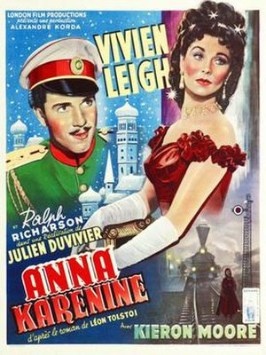 Anna Karenina (1948 film) - Theatrical release poster (France)