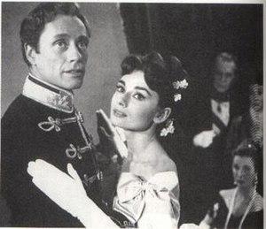 Mayerling (1957 film) - Mel Ferrer and Audrey Hepburn in Mayerling (1957)