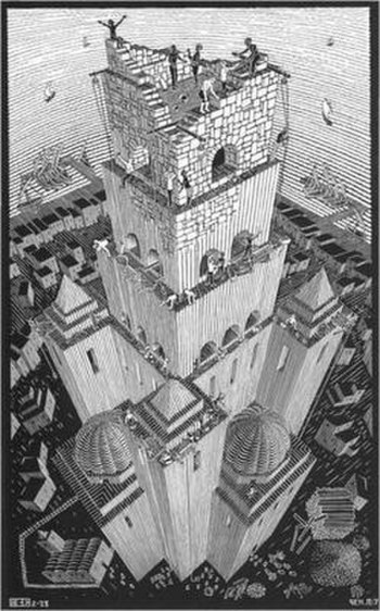 The Tower of Babel by M. C. Escher (1928).