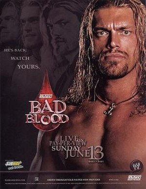 Bad Blood (2004) - Promotional poster featuring Edge