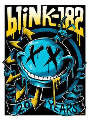20th Anniversary Tour (Blink-182) - Image: Blink 182 europeposter