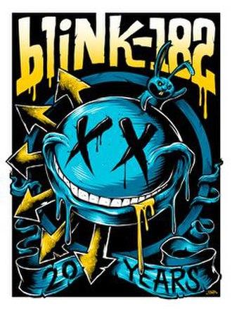 20th Anniversary Tour (Blink-182) - Image: Blink 182 europeposter
