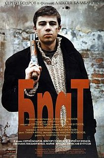 <i>Brother</i> (1997 film) 1997 Russian crime film directed by Aleksei Balabanov and starring Sergei Bodrov, Jr