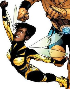 Bumblebee (comics) - Bumblebee's current Doom Patrol costume. Art by Matthew Clark.