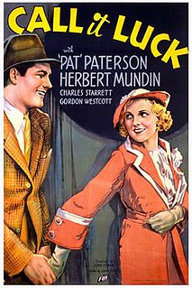 <i>Call It Luck</i> 1934 film by James Tinling