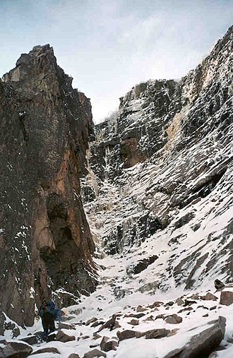 Cannon Mountain (New Hampshire) - Cannon's most prominent ice climb, the Black Dike