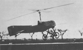 Helicopter rotor - The first autogyro to fly successfully in 1923.
