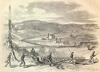 Salt River (Kentucky) - Major General Don Carlos Buell's army crossing the Salt River from the Harper's Weekly in October 1862