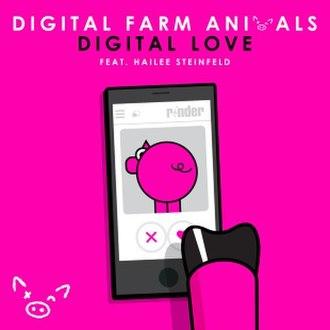 Digital Love (Digital Farm Animals song) - Image: DFA Digital Love single cover