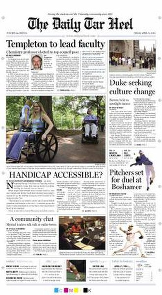 The Daily Tar Heel - Front page, April 21, 2006