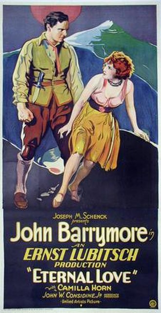 Eternal Love (1929 film) - Theatrical release poster
