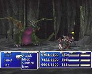 Final Fantasy VII - Image: FFVI Ibattlexample