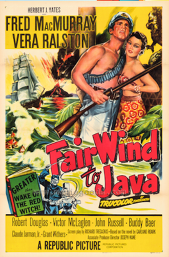 Fair Wind to Java - Theatrical release poster
