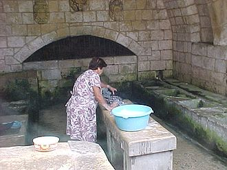 Fontana, Gozo - At times, people can still be found washing their clothes at the Fontana spring.
