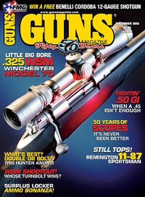 Guns (magazine) - Image: Gunsmagazineseptembe r 2005