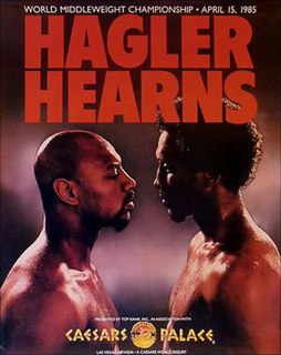 Marvin Hagler vs. Thomas Hearns Boxing competition