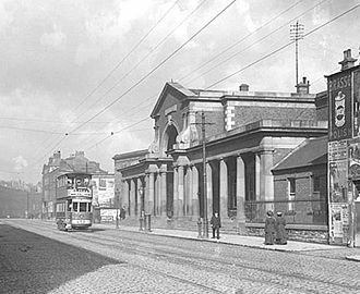 Harcourt Street station - The facade of Harcourt Street station, 1910