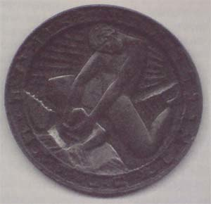 Hinko Juhn - Juhn designed medal for Congres of Jewish youth associations.