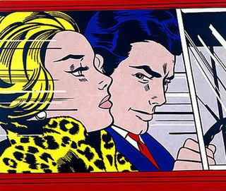 <i>In the Car</i> painting by Roy Lichtenstein