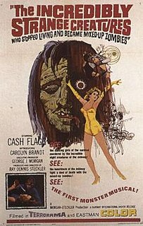 <i>The Incredibly Strange Creatures Who Stopped Living and Became Mixed-Up Zombies</i> 1964 film by Ray Dennis Steckler