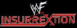 The logo for WWF Insurrextion Pay-Per-View.