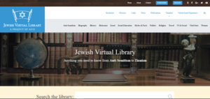 Jewish Virtual Library website screenshot.png