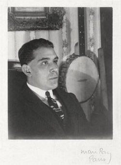 Juan Gris, 1922, photograph by Man Ray, Paris. Gelatin silver print.jpg