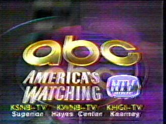 "KHGI-TV - NTV station ID from ABC's ""America's Watching"" campaign in 1991."