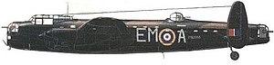 Vashon James Wheeler - Artwork depicting Avro Lancaster ME666, as flown by Wing Commander Wheeler on his final mission.