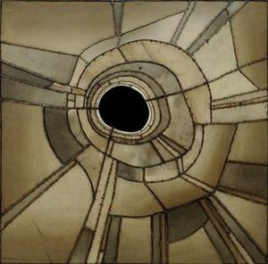 Lee Bontecou - Untitled, welded steel, canvas, black fabric and wire, 1959