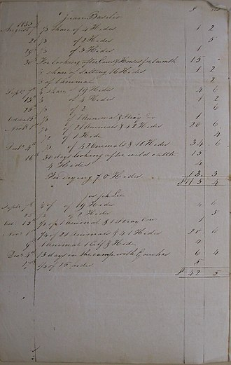 Luis Vernet - Image: Legajo 130 Doc 104 Account by Smith in 1835 for Lopez, Roxa, Coronel & Basilio. Page 2