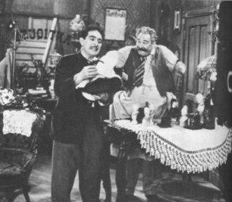 Life with Luigi - Luigi Basco (J. Carrol Naish) and Pasquale (Alan Reed) in the CBS-TV series Life With Luigi (1952)
