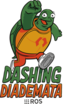 The logo for the ROS2 release Dashing Diademata.