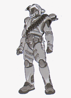 Shi Kai Wang's sketch which became the basis for the Master Chief