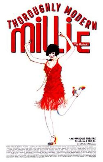 Thoroughly Modern Millie (musical) - Original Broadway Windowcard