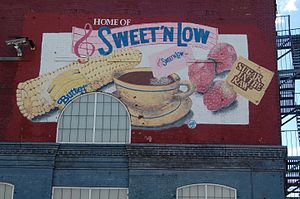 Sweet'n Low - Mural on the side of the Cumberland Packing Corporation, designed and painted by Benjamin Kile