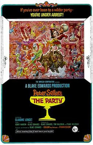 The Party (1968 film) - original film poster by Jack Davis
