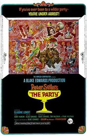 The Party (1968 film) - original film poster by Jack Davis