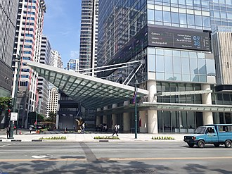 Philippine Stock Exchange - The Ground Level of the New Headquarters of the Philippine Stock Exchange in Bonifacio Global City.